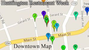 Huntington Restaurant Week Downtown Map