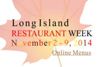 Long Island Restaurant Week Novemeber 2-9 2014