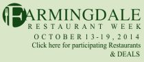 Farmingdale Restaurant Week October 13-19 2014