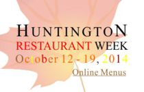 Huntington Restaurant Week Oct 12-19 2014